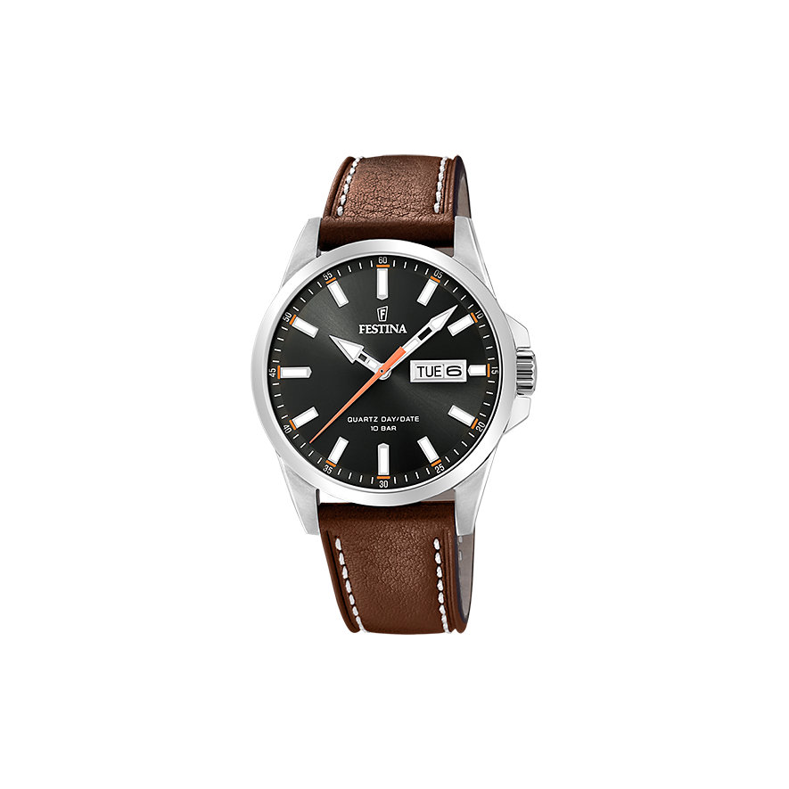 Festina Herrenuhr Classic Leather F20358/2