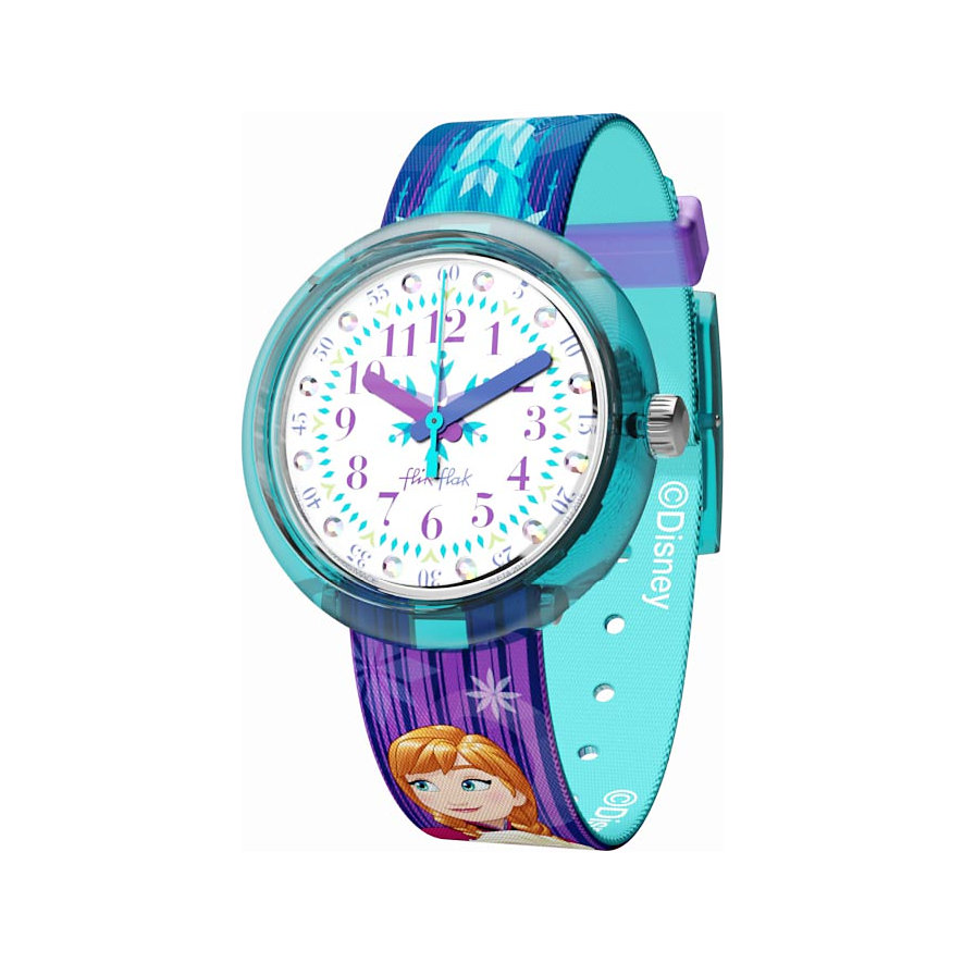 Flik Flak Kinderuhr Disney Frozen Elsa Anna FLNP027