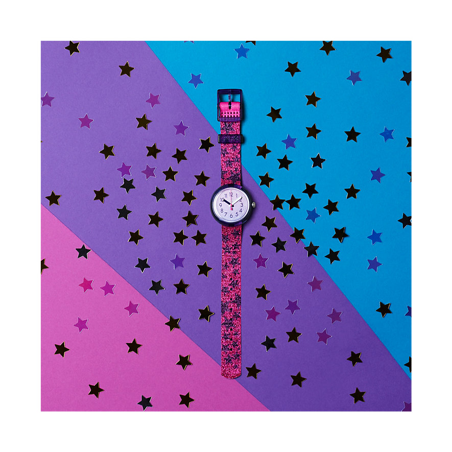 Flik Flak Kinderuhr Glitter Stars FPNP054