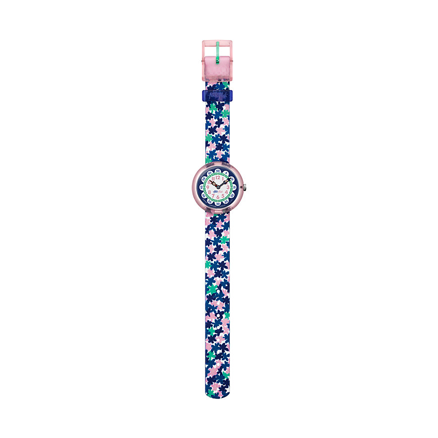 Flik Flak Kinderuhr London Flower FBNP080