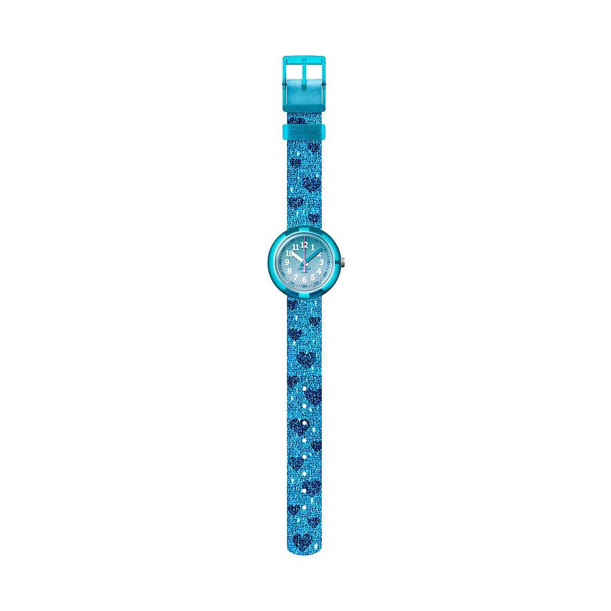 Flik Flak Kinderuhr Turquoise Sparkle FPNP064
