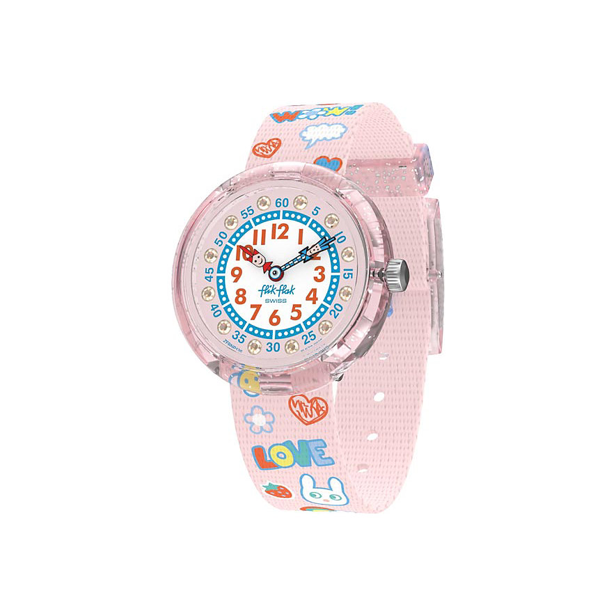 Flik Flak Kinderuhr Wow Love FBNP135