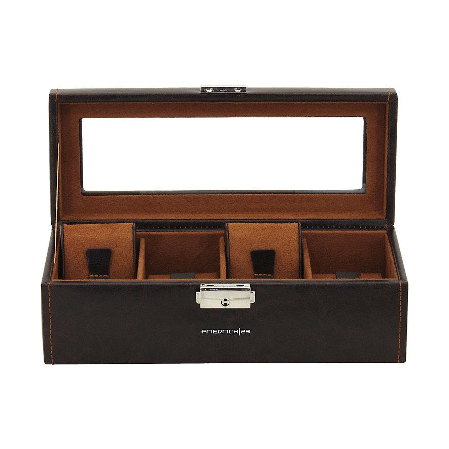 Friedrich Uhrensammelbox Uhrenbox Bond 4 Braun 70021/385