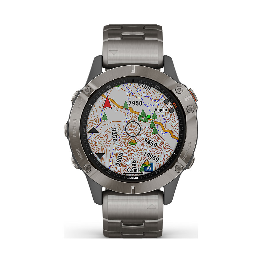 Garmin Smartwatch Fenix 6 Sapphire Titanium 010-02158-23