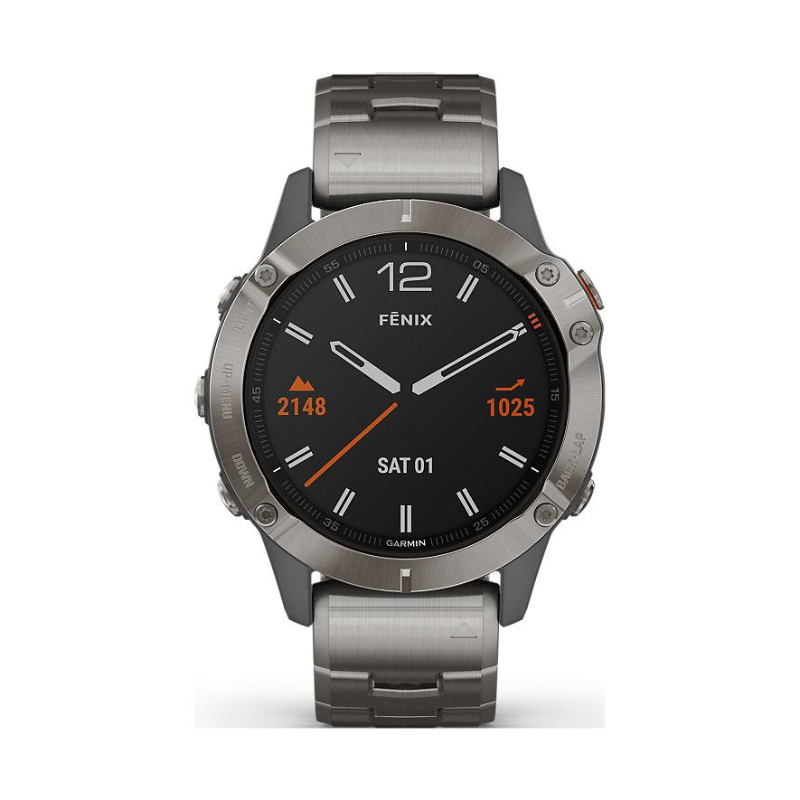 Garmin Smartwatch Fēnix 6 Sapphire Titanium 010-02158-23