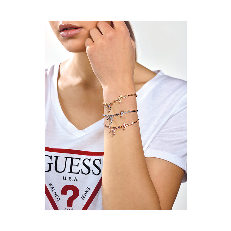Guess Armband Small Chain Moon UBB29009-S