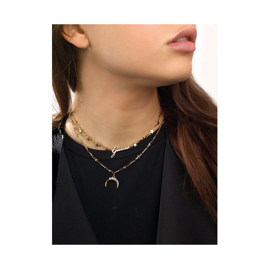 Guess Kette Double Chain Moon UBN29010