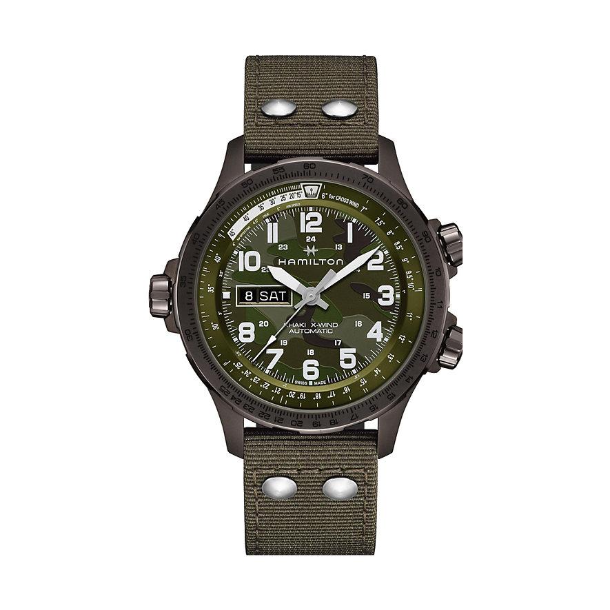 Hamilton Chronograph Khaki Aviation X-Wind Day Date Auto H77775960