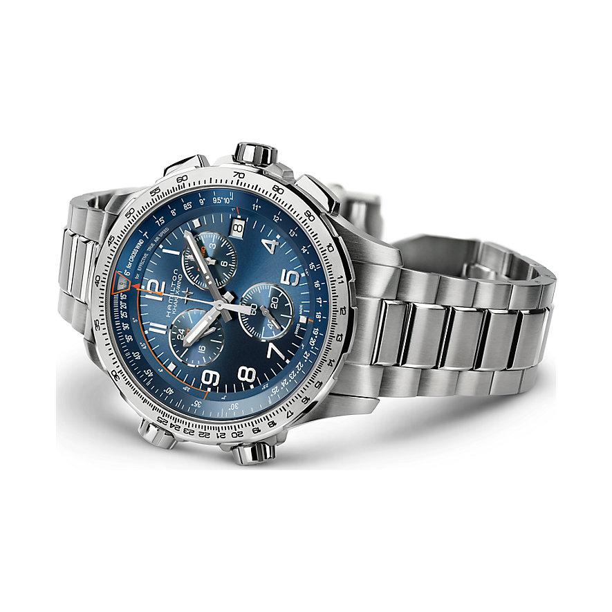 Hamilton Herrenuhr Khaki Aviation X-Wind GMT Chrono Quartz H77922141