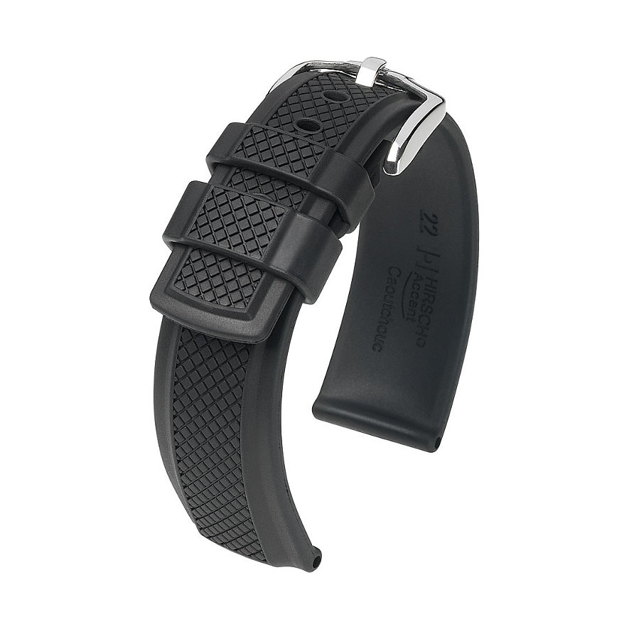 Hirsch Uhrenarmband Kautschuk Accent 40478850222