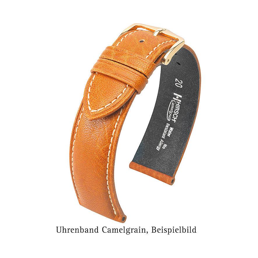 Hirsch Uhrenarmband Leder 01009015220