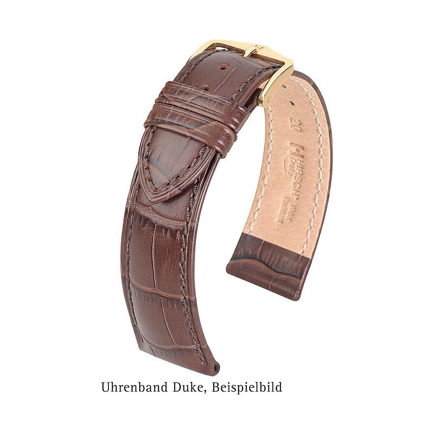 Hirsch Uhrenarmband Leder 01028080220