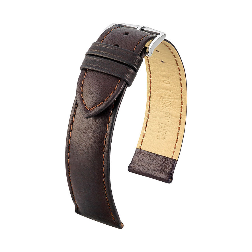 Hirsch Uhrenarmband Leder 01206010218