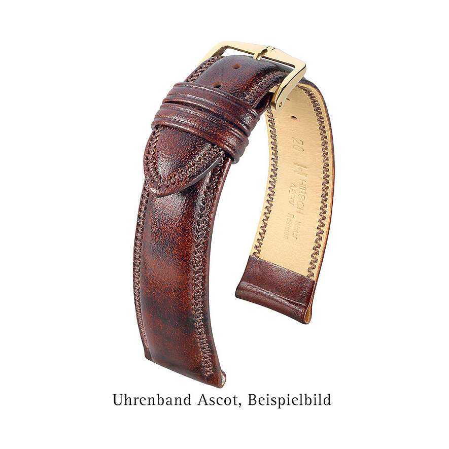 Hirsch Uhrenarmband Leder Ascot 01575050218