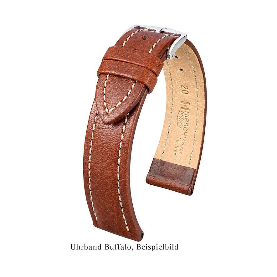 Hirsch Uhrenarmband Leder Buffalo 11320250222