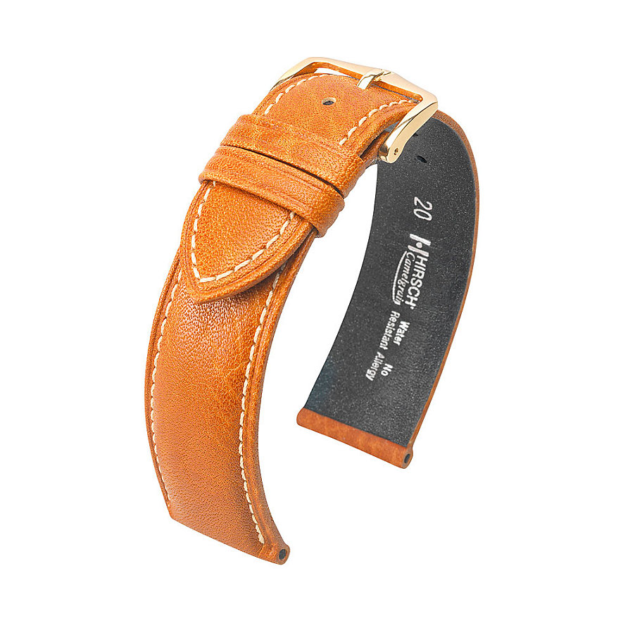 Hirsch Uhrenarmband Leder Camelgrain 10200910OE118