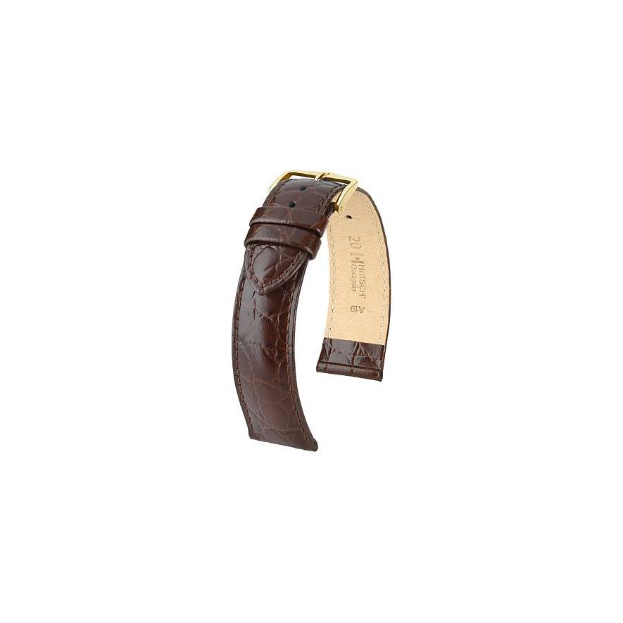Hirsch Uhrenarmband Leder Crocograin 12302810116