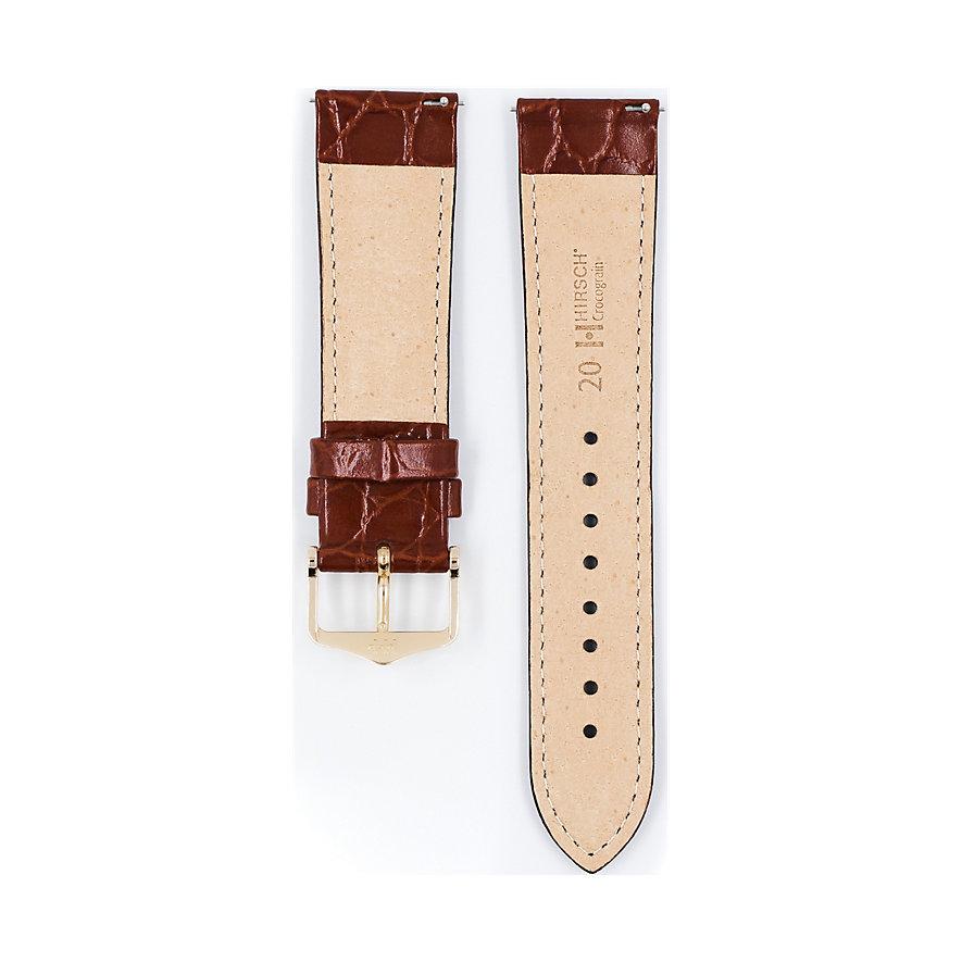 Hirsch Uhrenarmband Leder Crocograin 12322870218