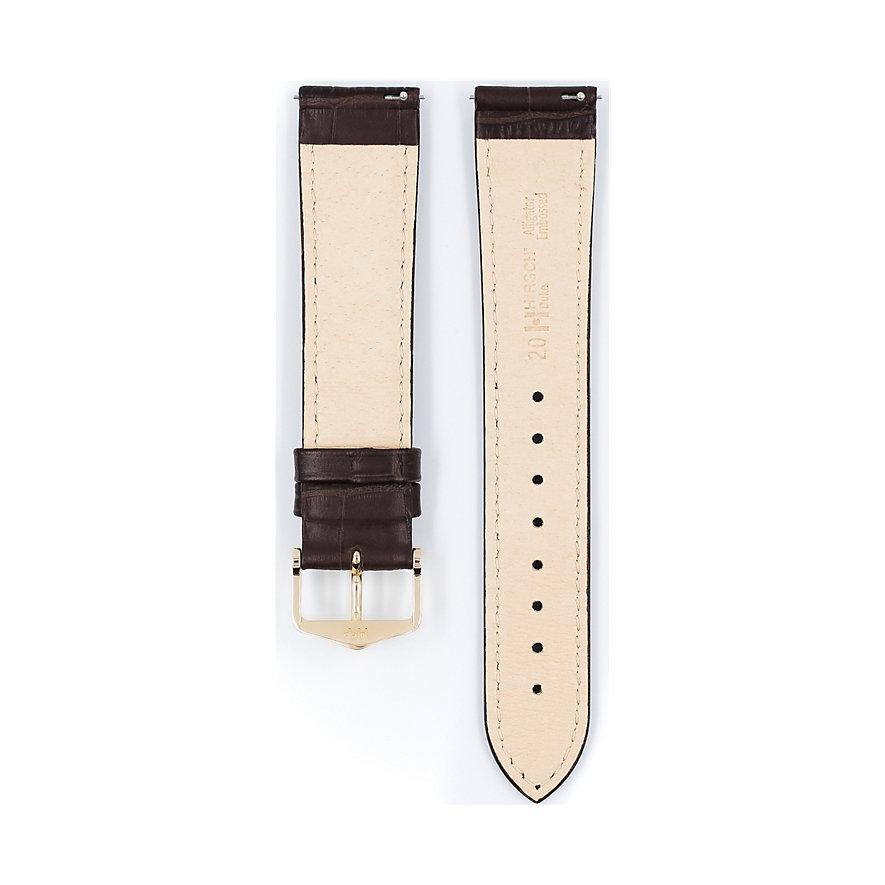 Hirsch Uhrenarmband Leder Duke 01028010120