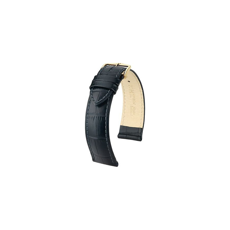 Hirsch Uhrenarmband Leder Duke 01028050118