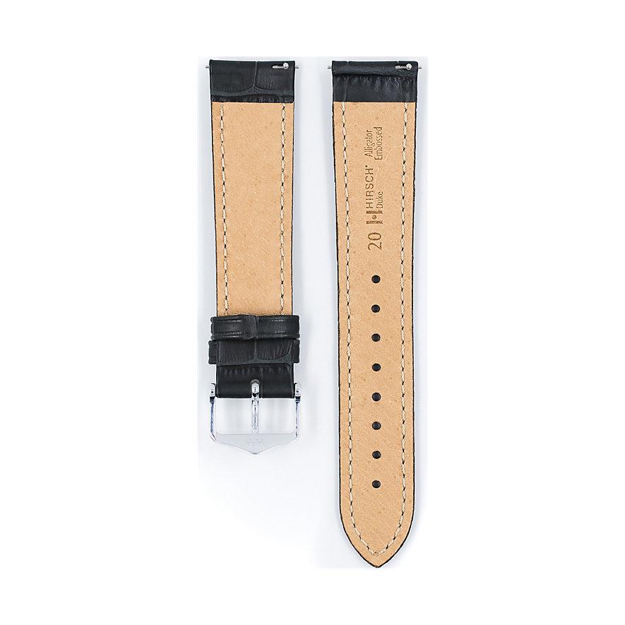 Hirsch Uhrenarmband Leder Duke 01028050224