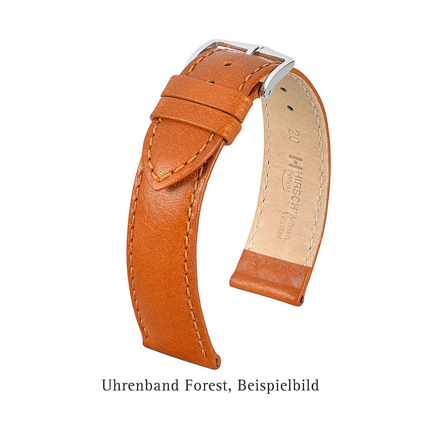 Hirsch Uhrenarmband Leder Forest 17900270214