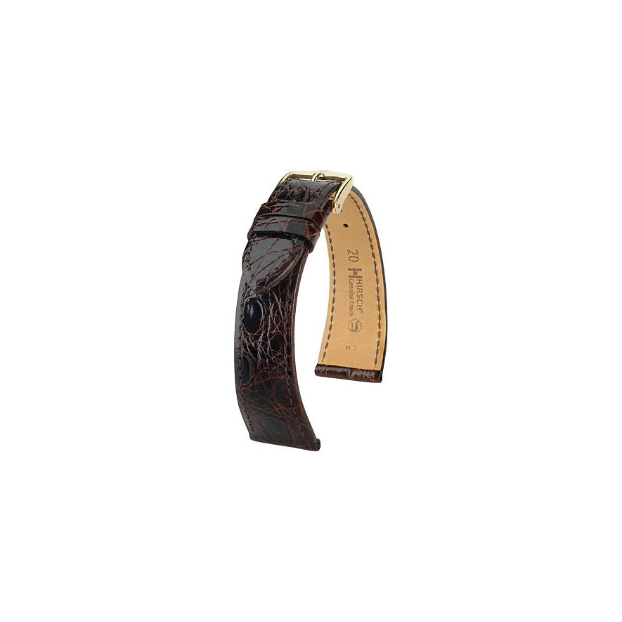 Hirsch Uhrenarmband Leder Genuine Croco 18900810118