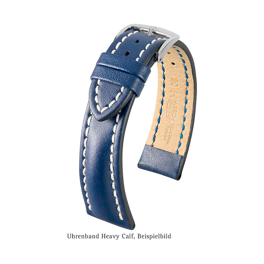 Hirsch Uhrenarmband Leder Heavy Calf 01475050224