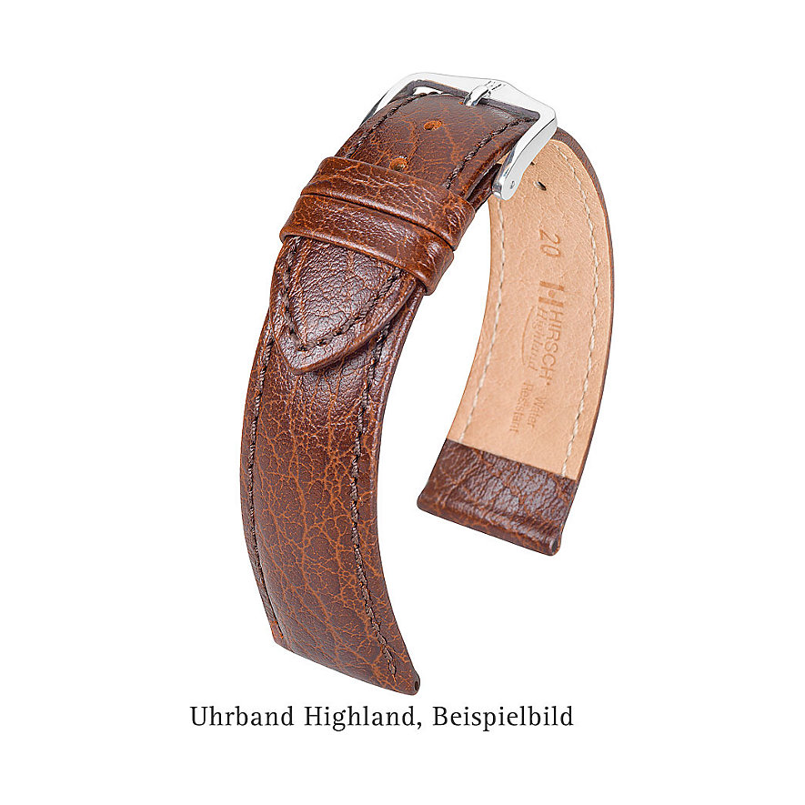 Hirsch Uhrenarmband Leder Highland 04302050219
