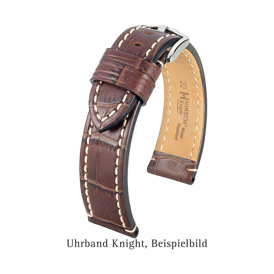 Hirsch Uhrenarmband Leder Knight 10922850-222
