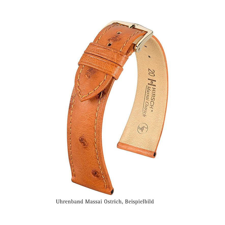 Hirsch Uhrenarmband Leder Massai Ostrich 04262050118