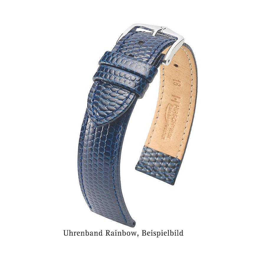 Hirsch Uhrenarmband Leder Rainbow 12302650110