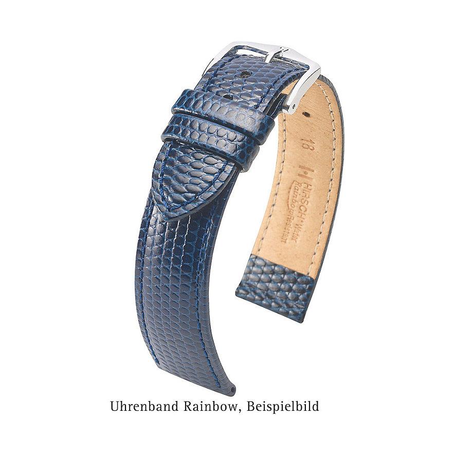 Hirsch Uhrenarmband Leder Rainbow 12302660114