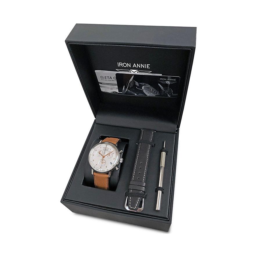 Iron Annie Bauhaus Set - Herrenchronograph + Wechselband + Werkzeug 5096-4Set