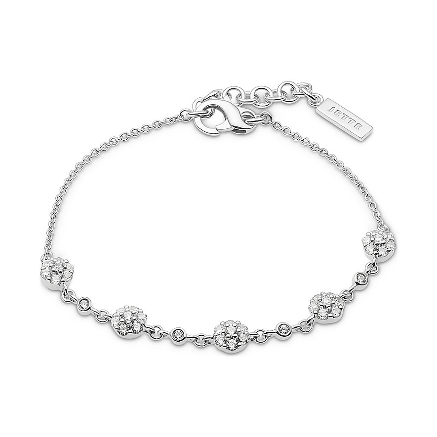 JETTE Silver Armband Snowball