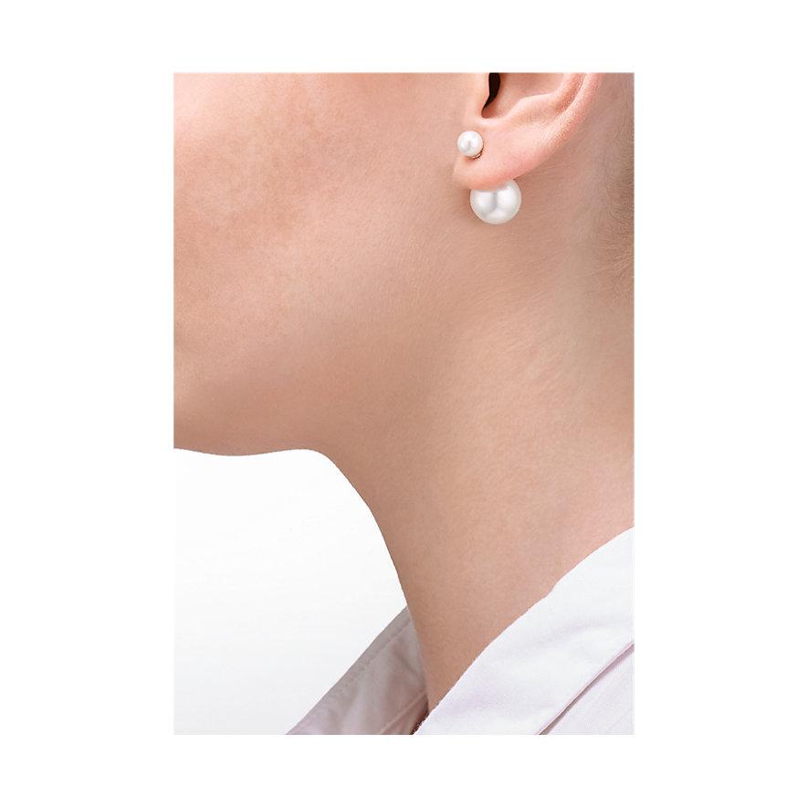 JETTE Silver Doppel Perle Ohrstecker 86787105
