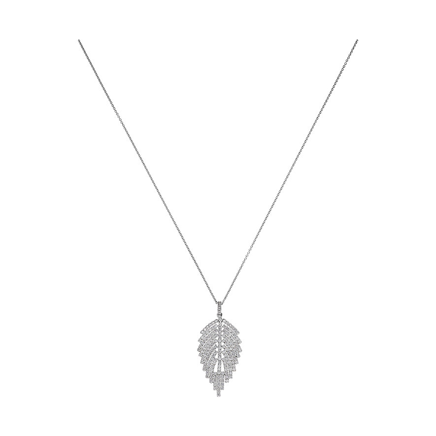 JETTE Silver Kette Leaf