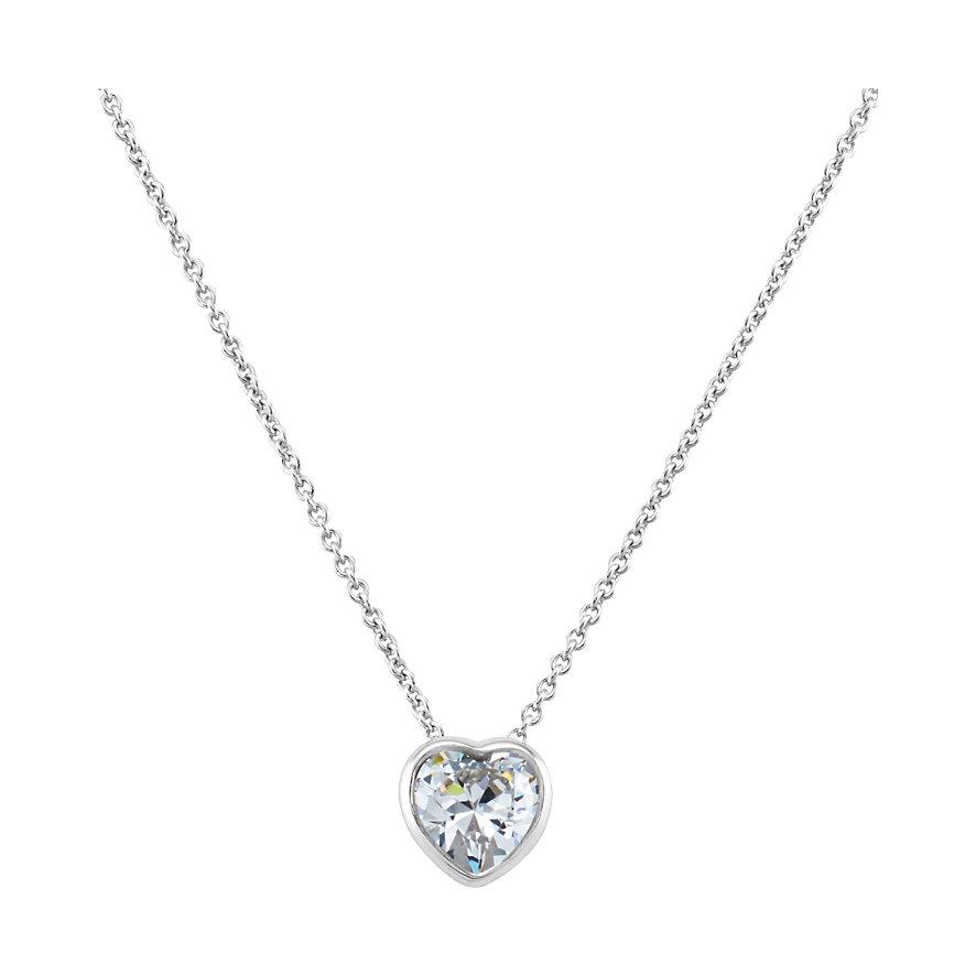 JETTE Silver Kette Solitaire Heart 86514389