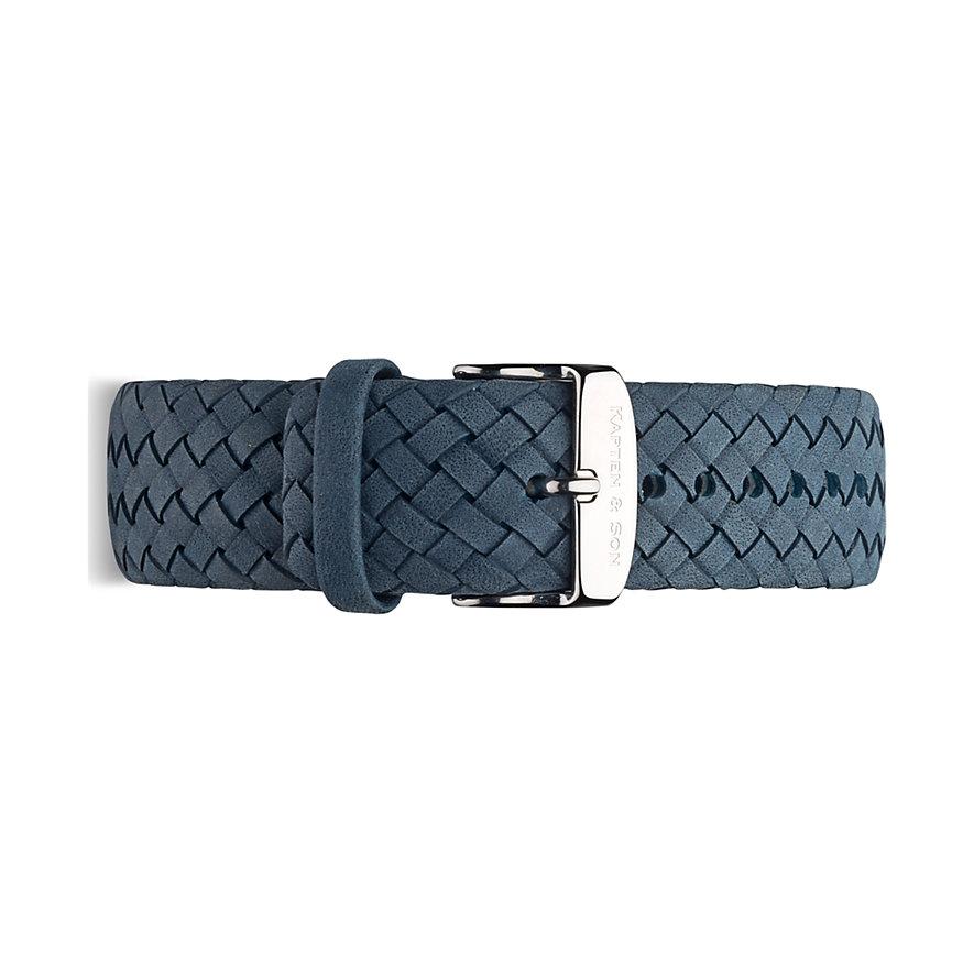 Kapten & Son Lederband Light Blue Woven BK03A1634F31A