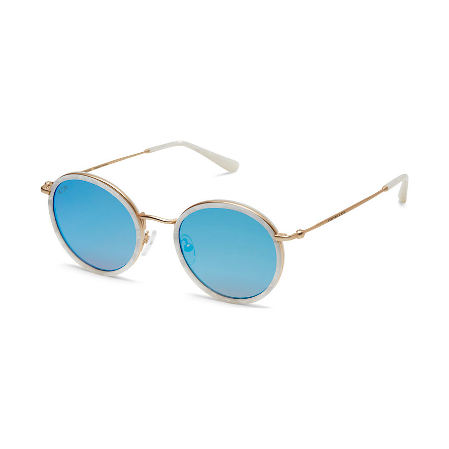 Kapten & Son Sonnenbrille Amsterdam Pearl Blue Mirrored DK12C0500A12B