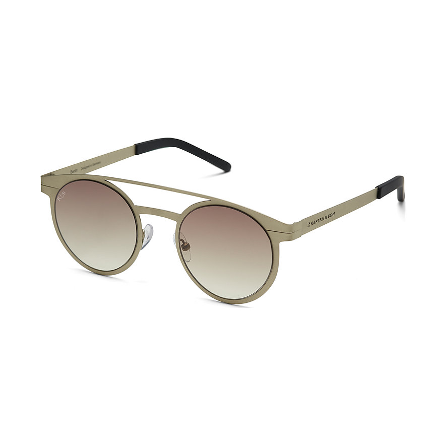 Kapten & Son Sonnenbrille Berlin Matt Gold Gradient Brown DQ99Q0500A12B