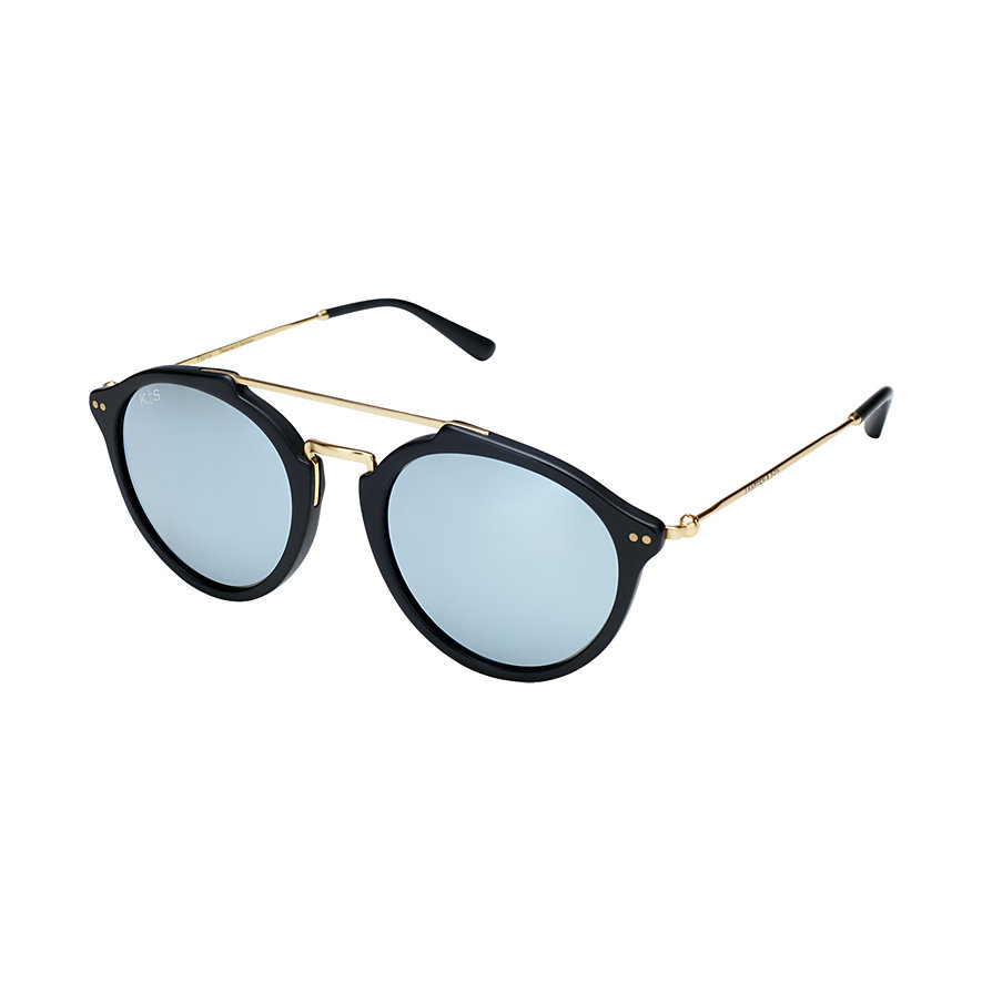 Kapten & Son Sonnenbrille Fitzroy Matt Black Blue Mirrored Glass KS04-BKM-BMG