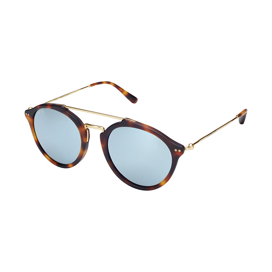 Kapten & Son Sonnenbrille Fitzroy Matt Tortoise Blue Mirrored Glass KS04-DTM-BMG