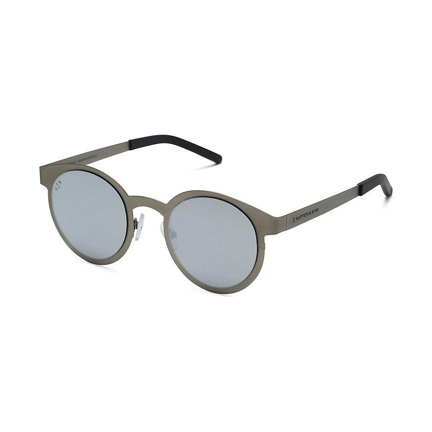Kapten & Son Sonnenbrille Hamburg Silver Grey Mirrored DR99S0800A12B