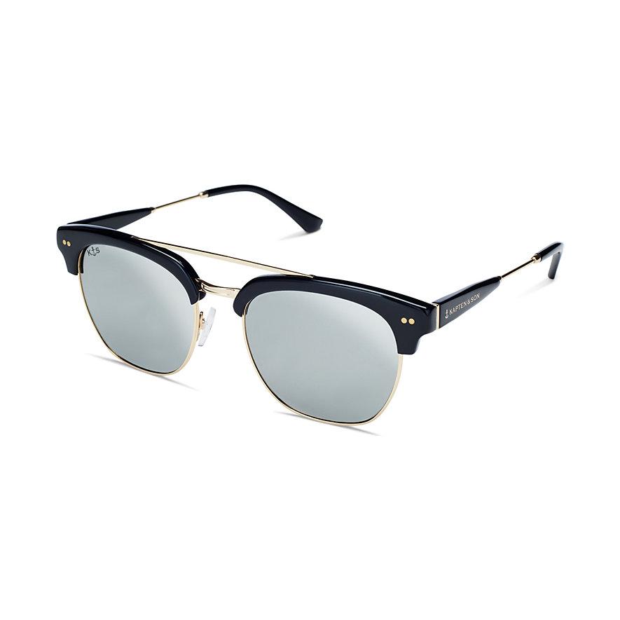 Kapten & Son Sonnenbrille Havana+ Gloss Black Blue Mirrored Glass KS12-BKG-SMG