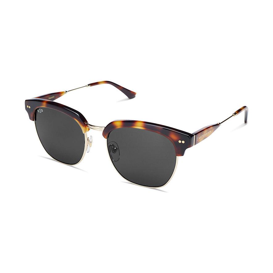 Kapten & Son Sonnenbrille Havana Gloss Light Tortoise Black Glass KS06-LTG-BKG