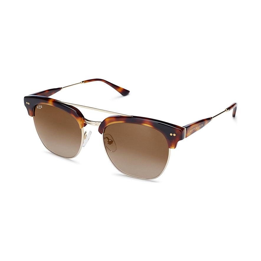 Kapten & Son Sonnenbrille Havana+ Gloss Light Tortoise Gradient Brown Glass KS12-LTG-GBG