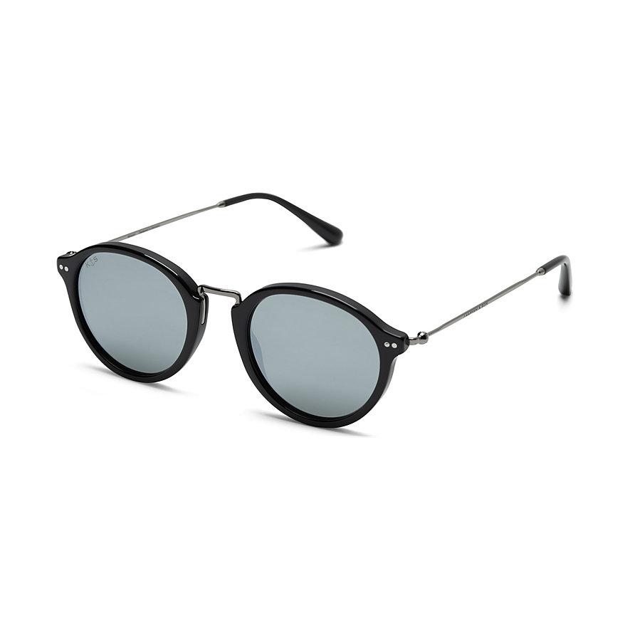 Kapten & Son Sonnenbrille Maui Black Silver Grey Mirrored DC00S0203A12C