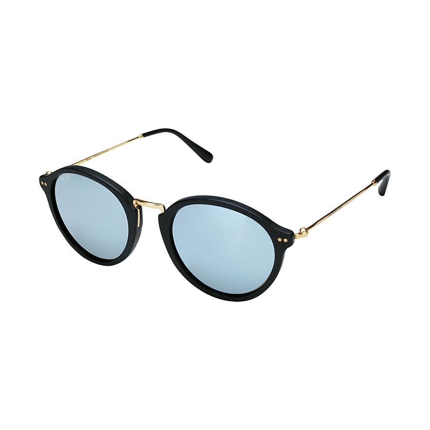 Kapten & Son Sonnenbrille Maui Matt Black Blue Mirrored Glass KS03-BKM-BMG