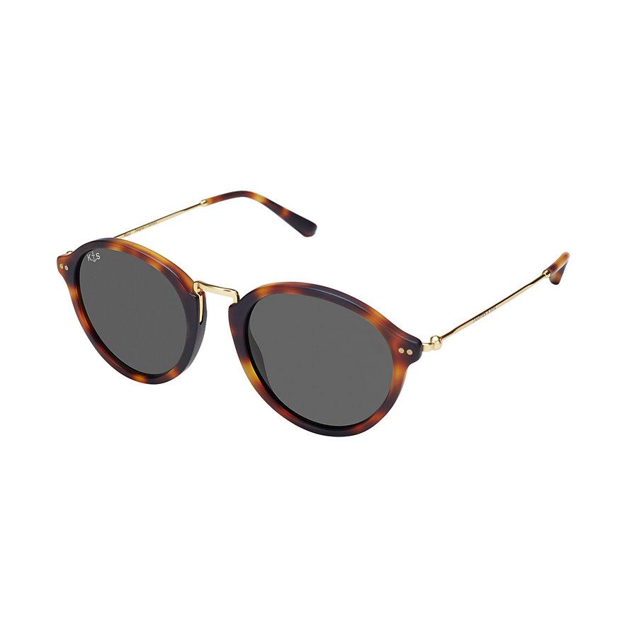 Kapten & Son Sonnenbrille Maui Matt Tortoise Black Glass KS03-DTM-BKG